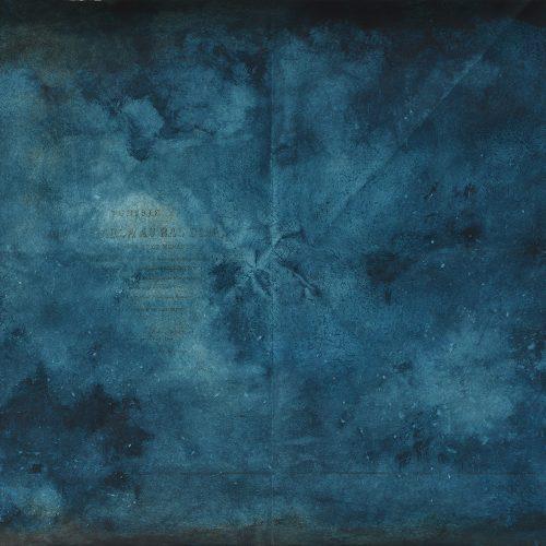 Deriva #6 2018 acrilico su carta nautica 38x52 cm.